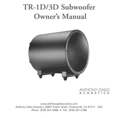 TR-1D/3D